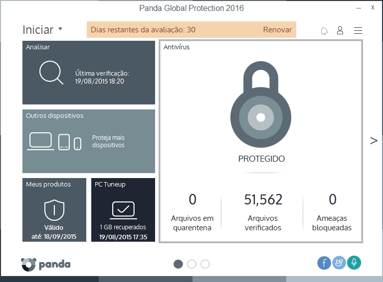 Panda Global Protection - Imagem 1 do software
