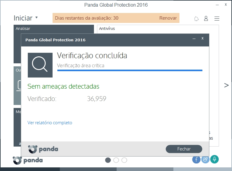 Panda Global Protection - Imagem 2 do software
