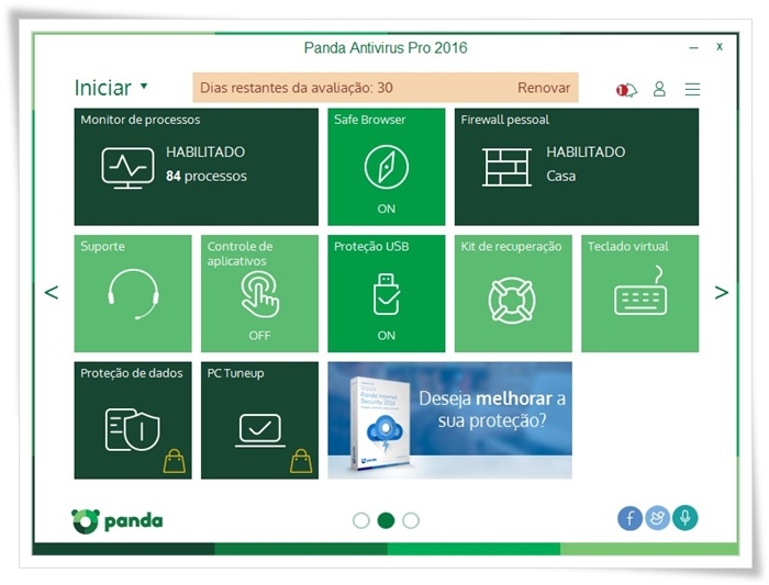 Panda Antivirus Pro - Imagem 2 do software