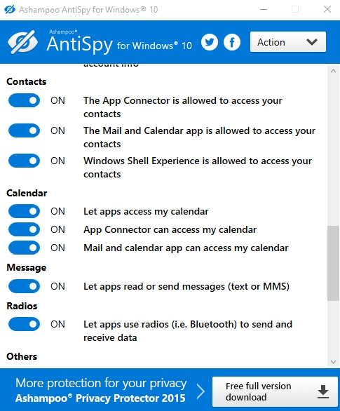 ASHAMPOO ANTISPY FOR WINDOWS 10 1.0.0