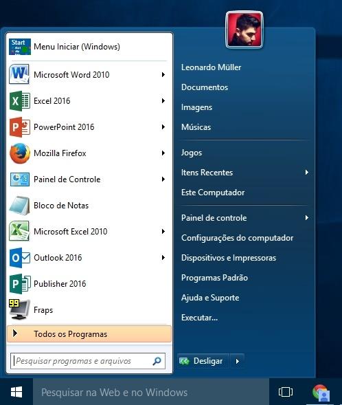 Classic Shell For Windows 10 - Imagem 1 do software