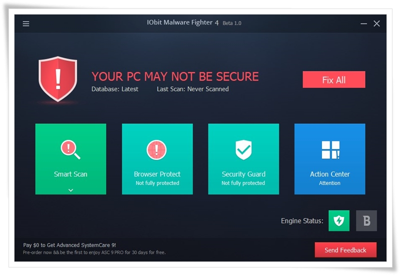 IObit Malware Fighter Beta - Imagem 1 do software