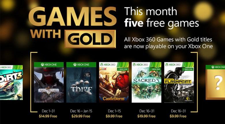 Thief e Sacred 3 são alguns dos jogos do Games with Gold de dezembro