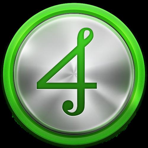 Logo 4shared música ícone