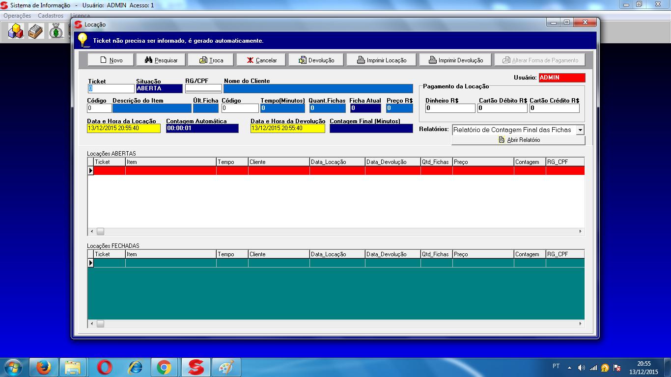 Siscon Sistema de Locação - Imagem 1 do software