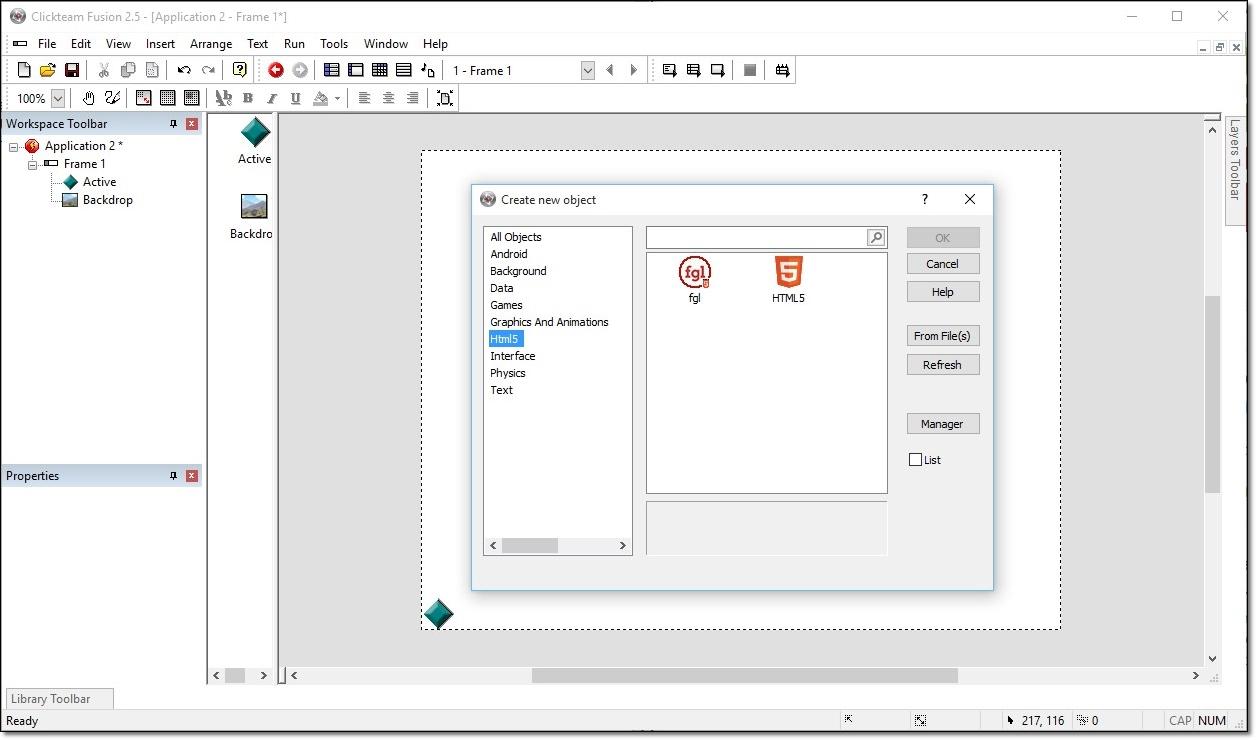 Clickteam Fusion - Imagem 2 do software