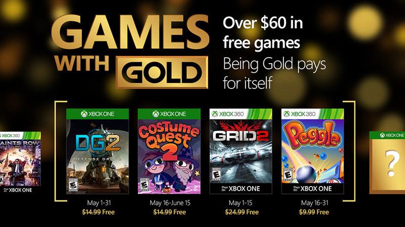 Microsoft revela os jogos de maio do sistema Games with Gold
