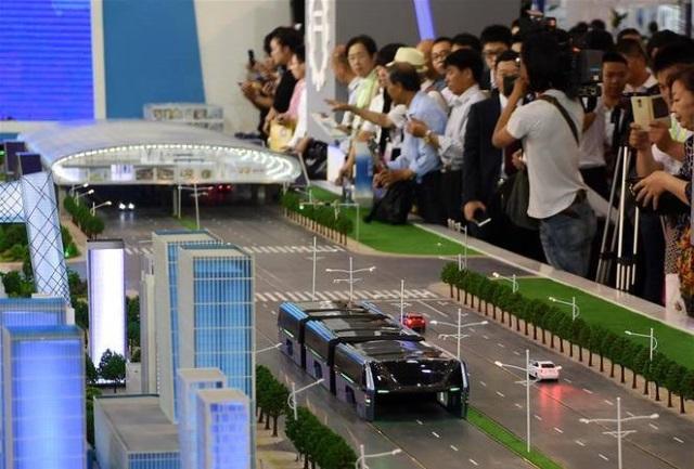 Modelo apresentado durante a feira em Pequim