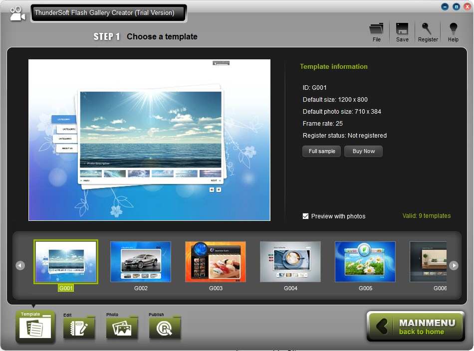 ThunderSoft Flash Gallery Creator - Imagem 1 do software