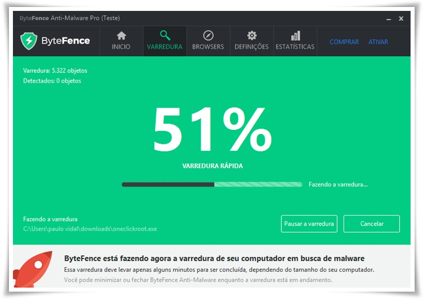 ByteFence - Imagem 2 do software