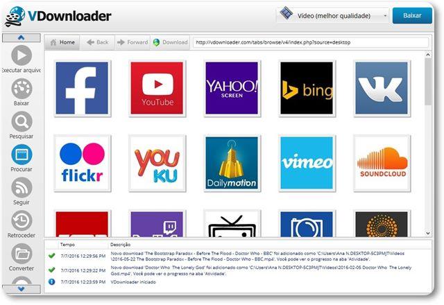 Vdownloader no superdownloads download de jogos programas na aba procurar possvel assistir a qualquer contedo livremente sendo que sempre que voc abre uma pgina que contm um vdeo o boto download stopboris Image collections