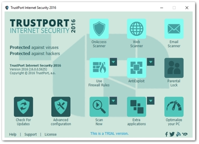 TrustPort Internet Security 2016 - Imagem 1 do software
