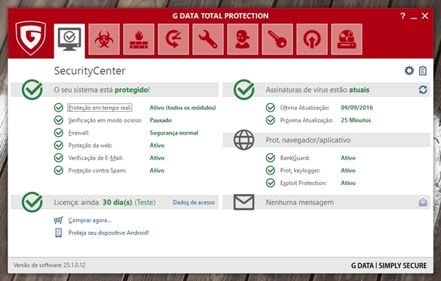 G Data Total Protection - Imagem 1 do software