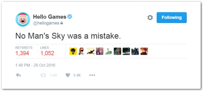 Hack? Produtora diz que 'No Man's Sky foi um engano' em perfil do Twitter