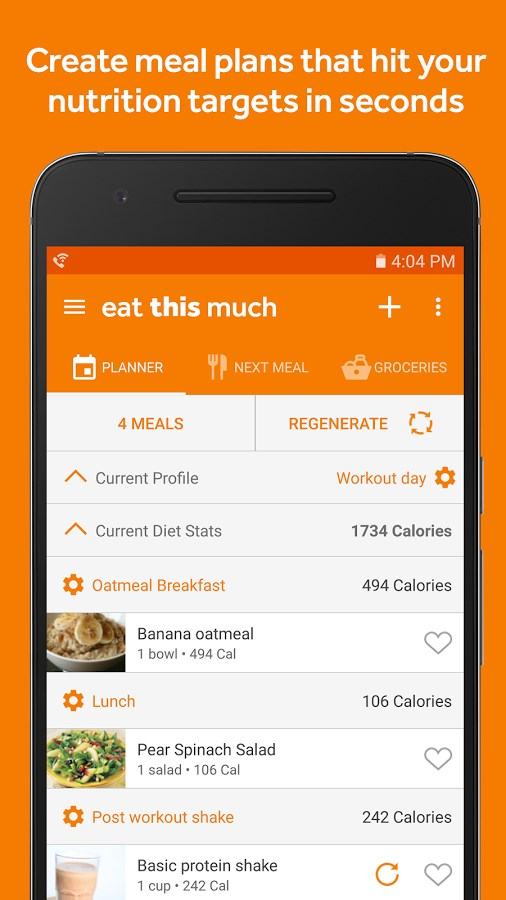 Eat This Much – Meal Planner - Imagem 1 do software