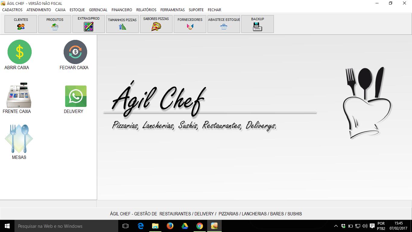 AgilChef - Imagem 1 do software