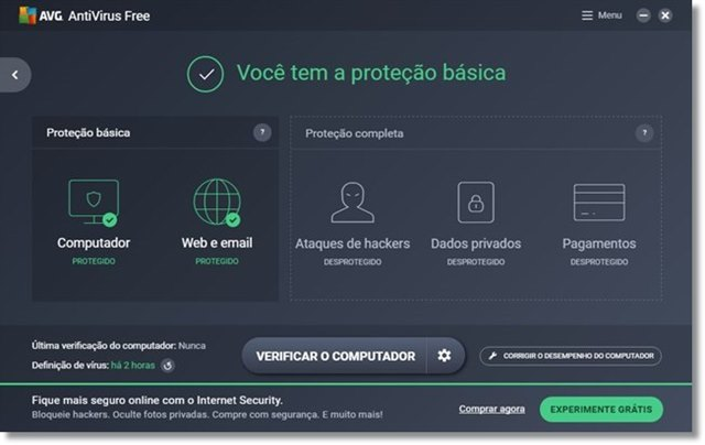 AVG AntiVirus Free - Imagem 1 do software
