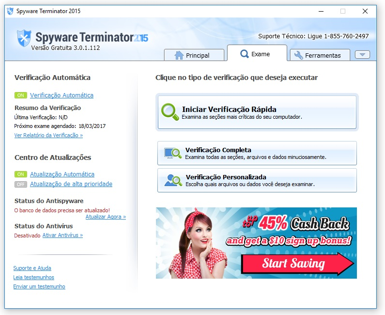 Spyware Terminator - Imagem 2 do software