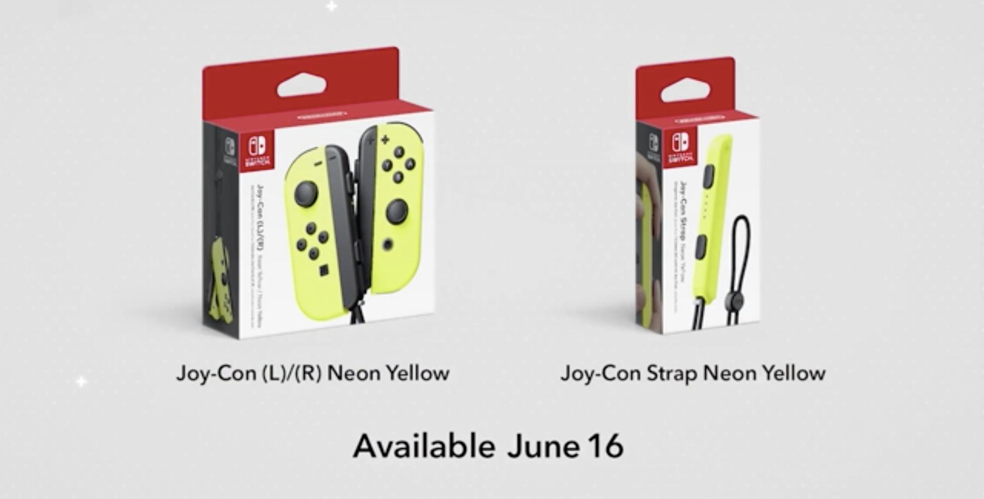 Nintendo anuncia novos acessórios para o Switch e Joy-Con amarelo neon