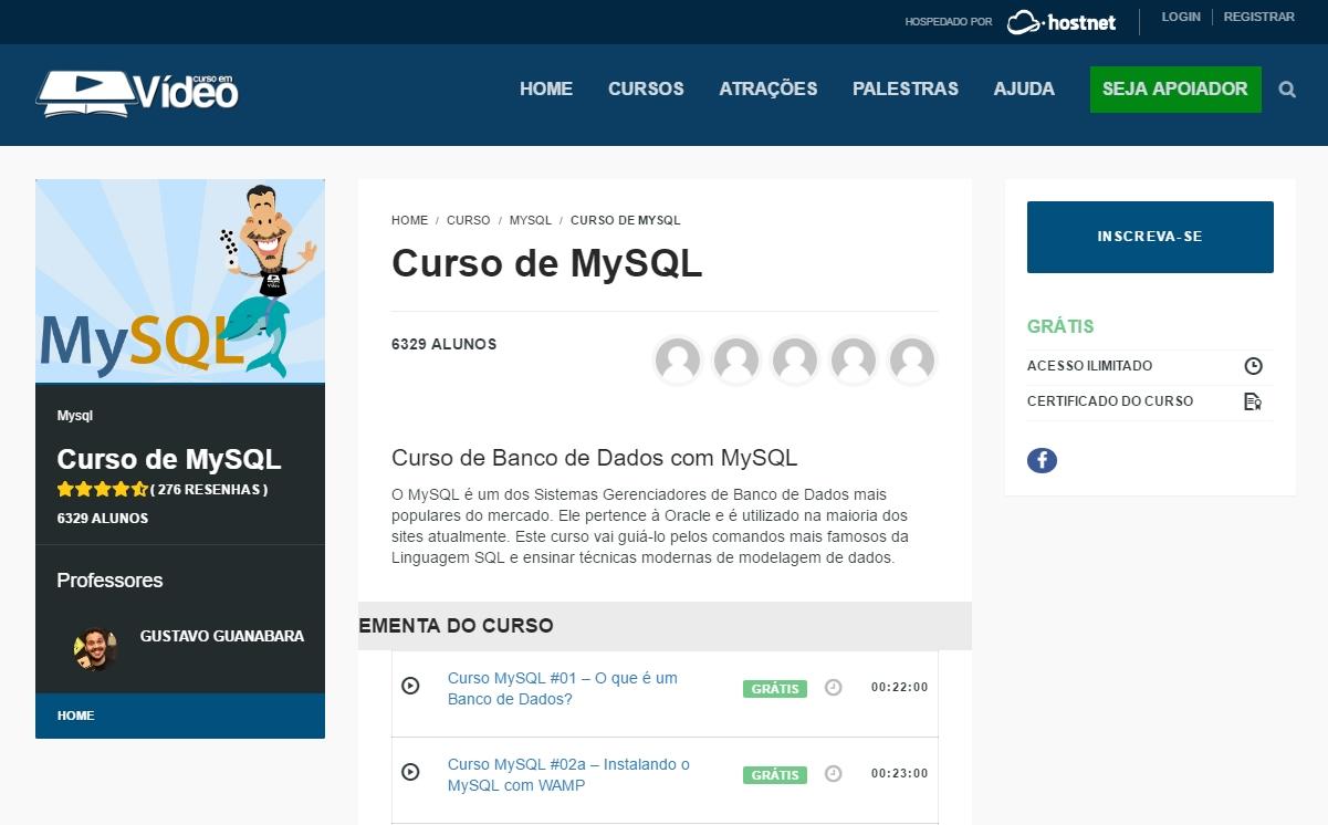 Curso de Banco de Dados em MySQL