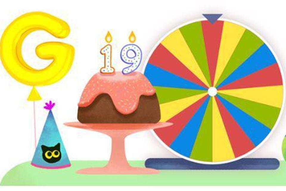 Google celebra 19º aniversário