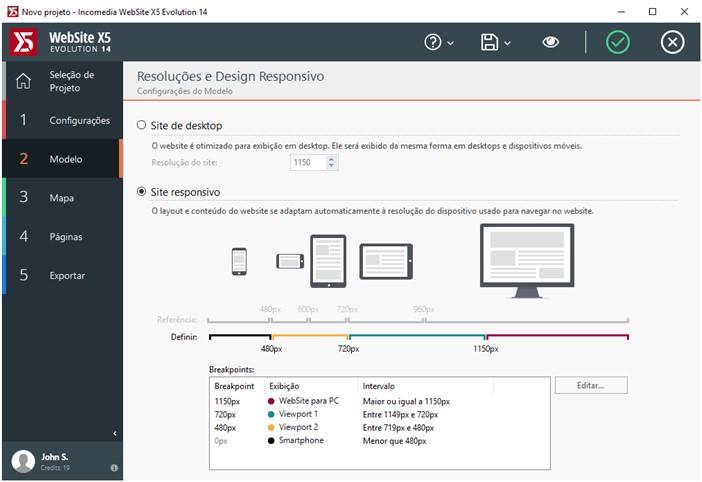 WebSite X5 Evolution - Imagem 2 do software