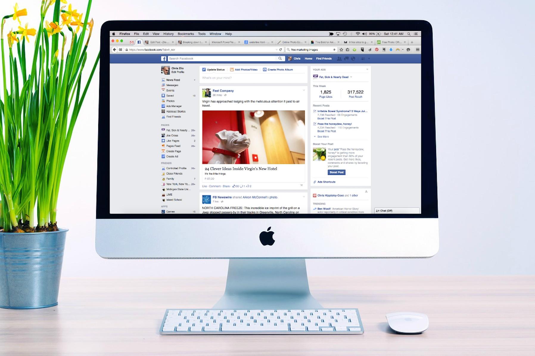 Mudança: Facebook testa retirada de todas as páginas do feed principal