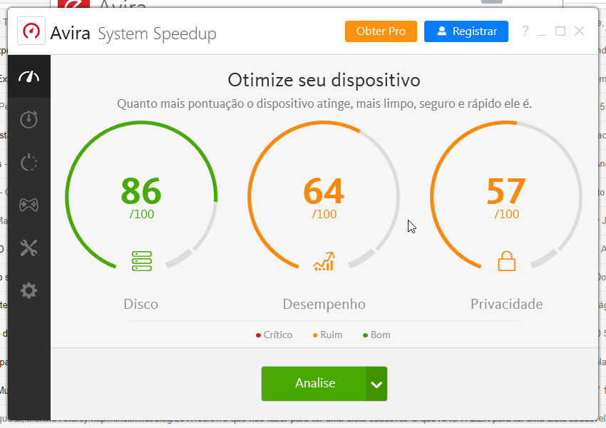 Avira Optimization Suite - Imagem 2 do software