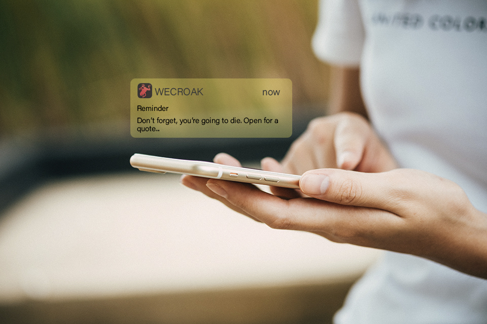 Todo mundo sabe que um dia vai morrer, e esse app faz questão de lembrar