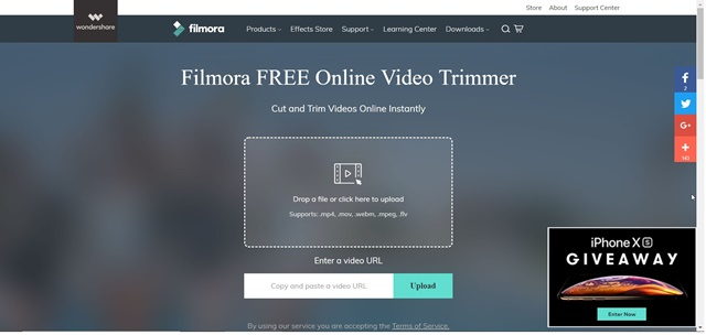 Filmora Online Video Trimmer - Imagem 1 do software
