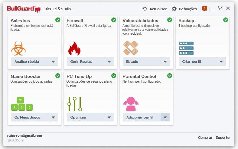 BullGuard Internet Security 2019 - Imagem 1 do software