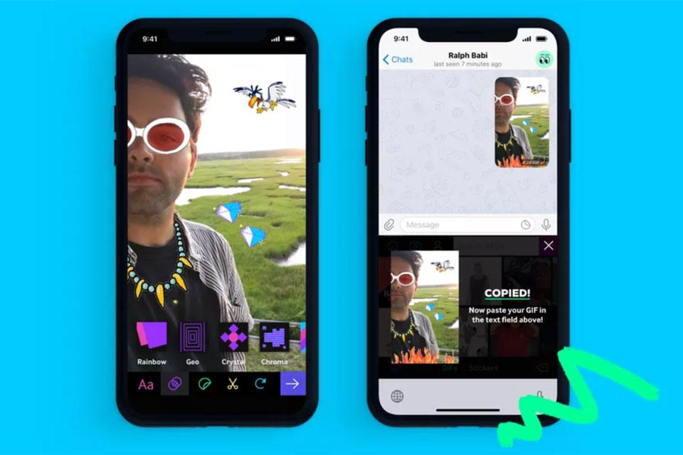 Giphy ganha integração com teclado e criador de stickers no iOS 12