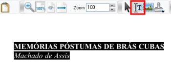 Copie partes importantes dos seus documentos PDF.
