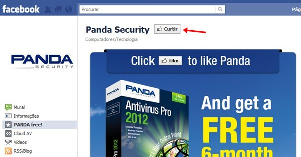 Curta a página do Panda Antivirus Pro