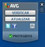 Widget do AVG 2011.