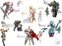 As seis ra�as dos personagens de Lineage 2.