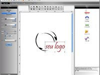 Interface principal do Logo Maker