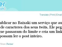 Apar�ncia do post depois que o usu�rio clica no link do Twitzer.
