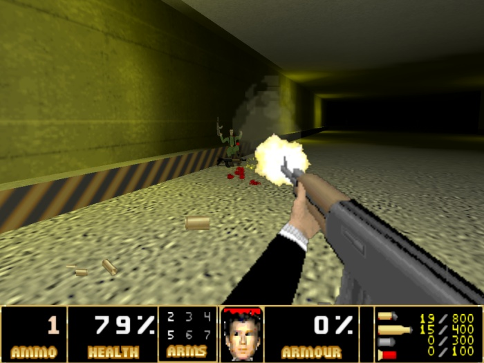Visual do game GoldeEye Doom2