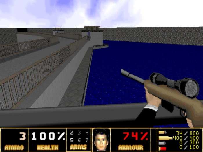 Visual do game GoldenEye Doom2