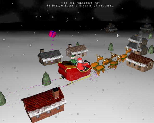 Very 3d christmas screen saver