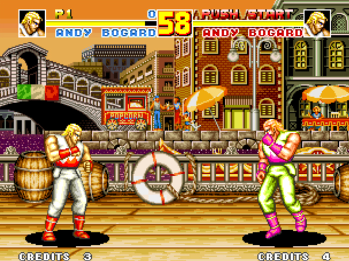 Visual do game Fatal Fury