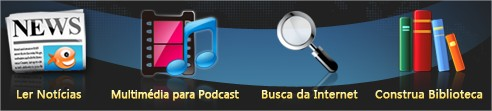 Gerencie e visualize seus feeds e podcasts.