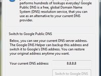 Interface do programa - DNS da Google aplicado