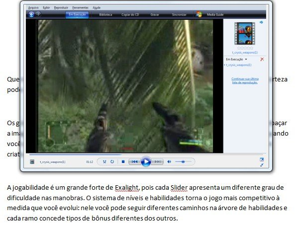 Copiando o Media Player