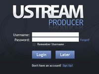 Visual do Ustream Producer.