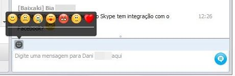 Emoticons também no chat do Facebook