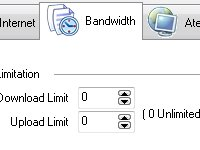 Configure os limites m�ximos de download e upload