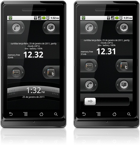 HTC Sense ou iPhone no WidgetLocker