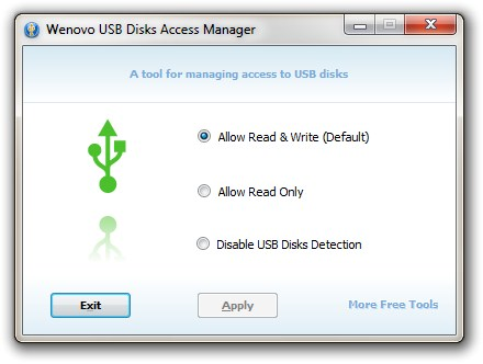 WENOVO USB DISK ACCESS MANAGER 1.0